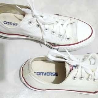 Authentic. Converse white