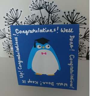Congratulations Greeting Cards - Penguin (Handmade)