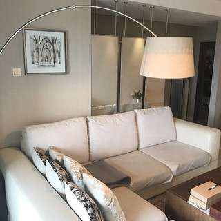 L shape sofa + new cover + cushion + TV blanket