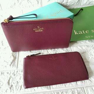 YC- AUTH! Kate Spade 2in1 Wallet w/Pouch