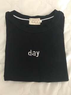 Black Day shirt/top