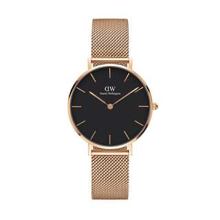 100% Original [SALES] Daniel Wellington Watch Classic Petite Collection Melrose Rose Gold 28mm / 32mm Black Face Free Delivery