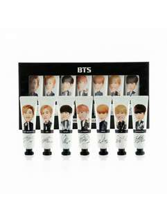 BTS - LIMITED EDITION OFFICIAL BTS HAND CREAM (PER MEMBER and SET)