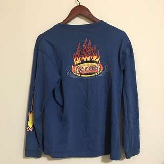 Vintage graphic tee with flames