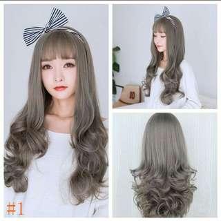 Gray wig