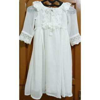 Dress Putih Panjang