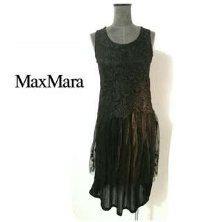 MaxMara black romance dress  sz 10