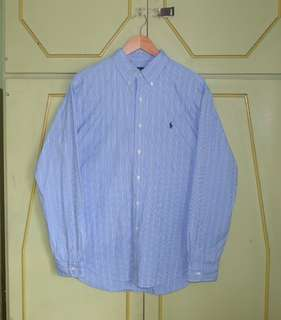 Authentic Ralph Lauren Classic Fir Striped Button Shirt