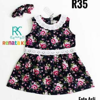 R35 Dress RK Flowery Navy