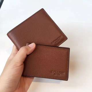 Coach Men Short Wallet / compact ID wallet