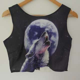 MOON AND WOLF CROP TOP