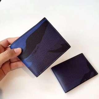 Coach indigo Camo men's Short Wallet