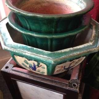 Antique Sikwan Pots