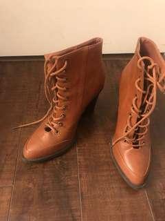 Brown boot heels