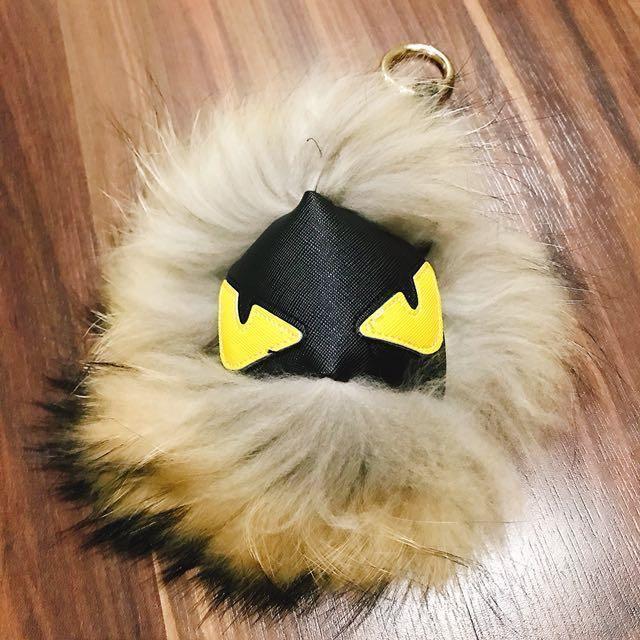 100% Fox Fur Fendi Monster Bagcharm