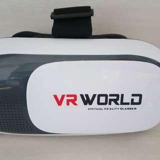 九成新-虛擬VR360度實境 行動影視/VR WORLD手機3D頭戴式BOX虛擬實境頭盔