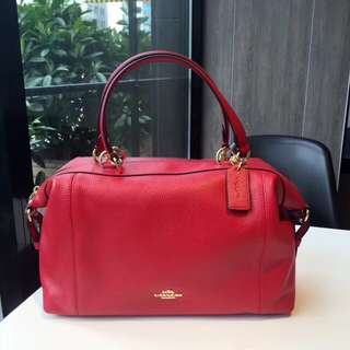 Coach Lenox Satchel - red