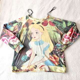 Alice in Wonderland sweater