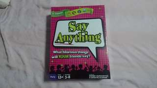 🆕 Say Anything Board Game