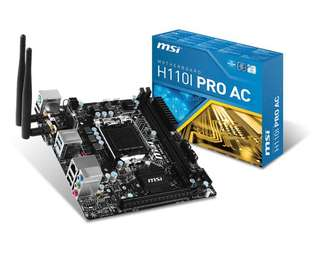 WTT MSI H110I ITX Motherboard for LGA 1151 MATX motherboard