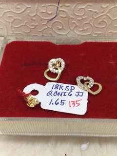 18k gold studs earring