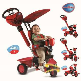 Smart Trike Touch Steering Zoo 4-in-1 - Lady Bug