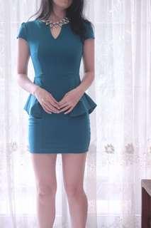 Green Peplum Dress
