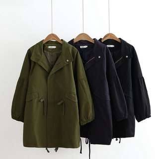 (XL~3XL) 2018 new Korean version of long coat coat