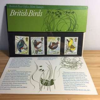 British birds post office mint stamps