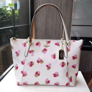 Coach Ava Tote in Field Floral Print Coated Canvas