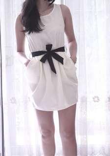 White Baloon Dress
