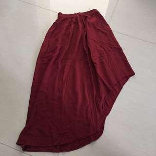 Red flare skirt NETT