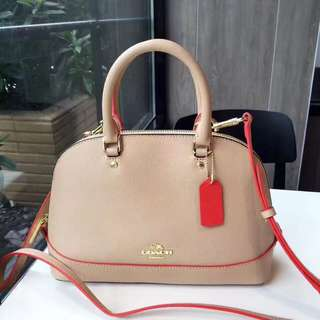 Coach Mini Sierra Satchel with multi edge paint