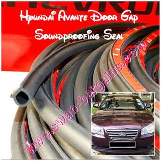 Hyundai Avante Accent SoundProof Water Seepage Leaking Wind Strip Rubber Soundproofing Tubing Seal With 3M Backing Adhesive Tape Sound Proof Sealing