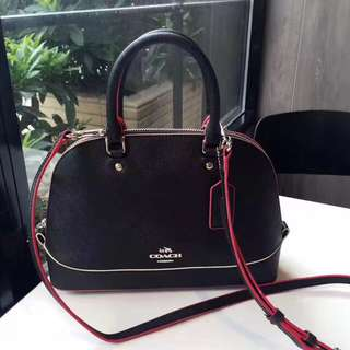 Coach Mini Sierra Satchel with Multi edge paint - black