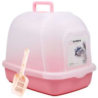 Fully enclosed cat toilet