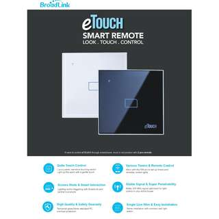 Broadlink eTouch 1 Gang 1 Way Switch