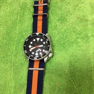 Seiko 7002 watch modded