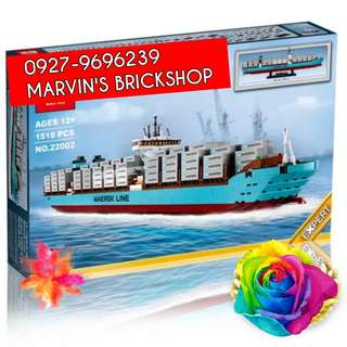 For Sale MAERSK Cargo Ship Line TRIPLE-E Building Blocks Toy