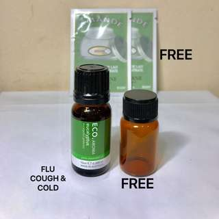 ECO. AROMA EUCALYPTUS.   Australian Oils of Pharmaceutical grade to aid the symptoms of Sinus, Cold and Flu. 100% PURE ESSENTIAL OIL. 10ML. Brand New.
