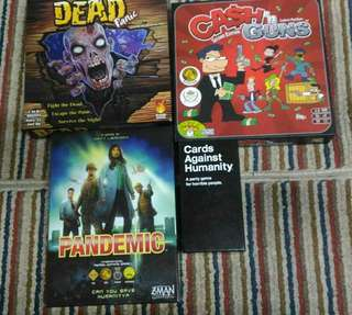 Pre-loved boardgames and card games
