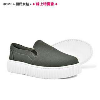 🚚 富發牌 全新 25.0 灰色圓頭懶人鞋 便鞋