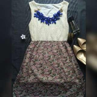 White Flowery Dress