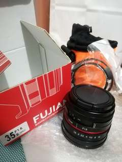 Fujian 35mm f1.6 CCTV Lens for Sony and Fuji Mirrorless Camera