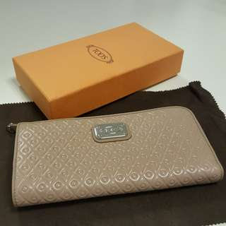 [Mothers' Day Gift Idea] TOD'S PURSE WALLET in Khaki ORIGINAL bought from London