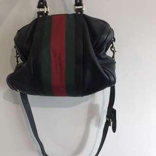 Black Gucci Boston Bag