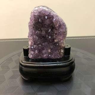 巴西 天然原礦/原皮 紫水晶鎮