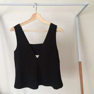 Black Cropped Tank Top by C/MEO COLLECTIVE