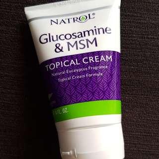 Natrol Glucosamine & SMS Cream, 4 fl oz