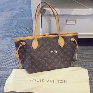 AUTHENTIC LOUIS VUITTON NEVERFULL , PM SIZE IN MONOGRAM CANVAS - LIKE NEW !
